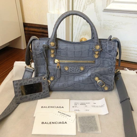 Balenciaga Handbags - Crocodile Embossed Classic Mini City
